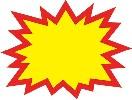 クラフトPOP 爆発型無地 中 (10枚×1冊)