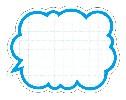 抜型カード 吹出し型 ブルー (50枚×5冊)