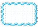 抜型カード 立体枠 波四角¥なし (50枚×5冊)