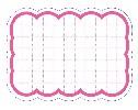 抜型カード 波四角 大 ピンク (30枚×5冊)
