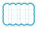 抜型カード 波四角 大 ブルー (30枚×5冊)