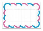 カード 中 二色波枠 (50枚×5冊)