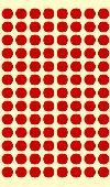 ラベルシール 9mm丸 赤 (1560片×10冊)