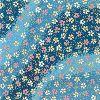 友禅和紙 全判 水紋花・藍 (×1枚)