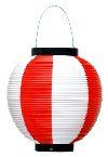 ポリ提灯 赤白(旧39−7037) (×5個)