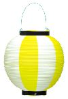 ポリ提灯 黄白(旧39−7039) (×5個)